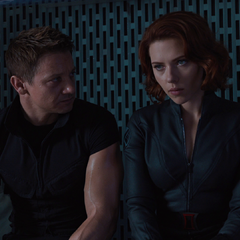Black Widow and Hawkeye.