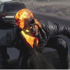 Ghost Rider on a car.