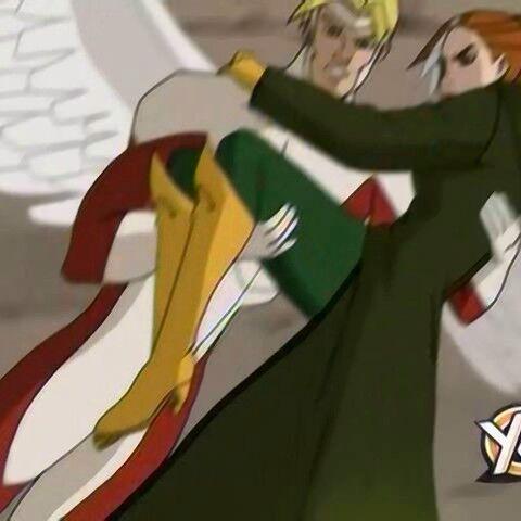 Angel saves Rogue.