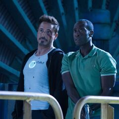 Tony and Rhodey.