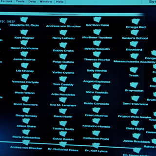 A list of folders, including Harada's