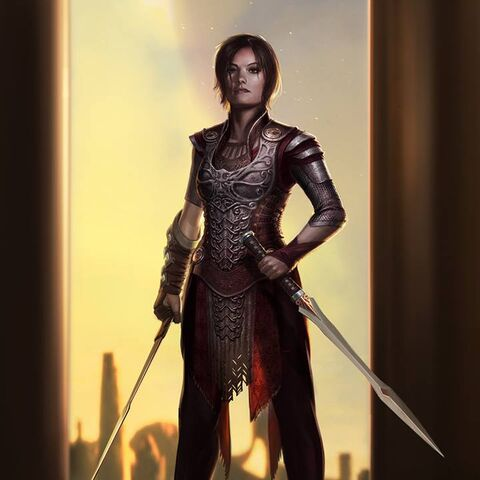 Concept art of Sif from <i><a href=