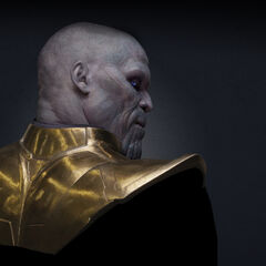 Test image of Thanos without his helmet.