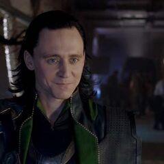 Loki smirking.