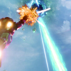 Iron Man attacking The <a href=