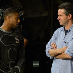 First Official BTS Look at Michael B. Jordan as The Human Torch in Costume with Simon Kinberg.