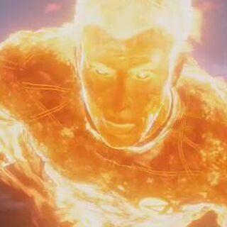Human Torch chasing <a href=