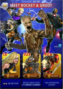 Meet Rocket & Groot Offer