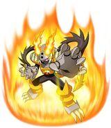 Megamancross heatbeast
