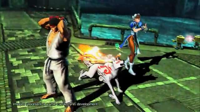 File:Amaterasu, Ryu, Chun Li, Serverbots and Issun-MvC3.PNG