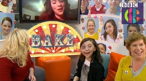 Bake Off Winner Candice suprises Junior winner Nikki CBBC