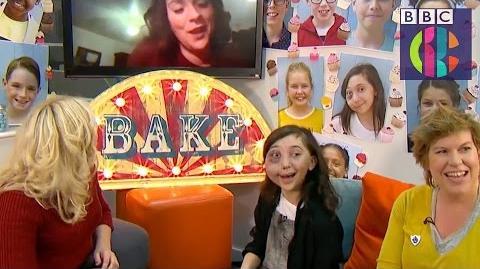 Bake Off Winner Candice suprises Junior winner Nikki CBBC