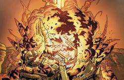 Saren destroys the temple on Palaven
