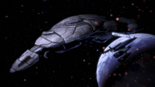 ME3 Geth Dreadnought in-game