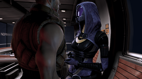 Shepard and Tali on a semi-private moment