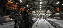 Troops in the Hangar Bay