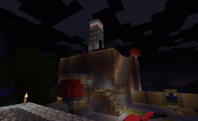 Dovahkiin Light House at Night