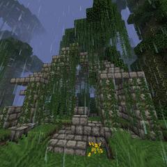 Large jungle temple