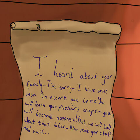 The letter to Bigi from his uncle Alexander
