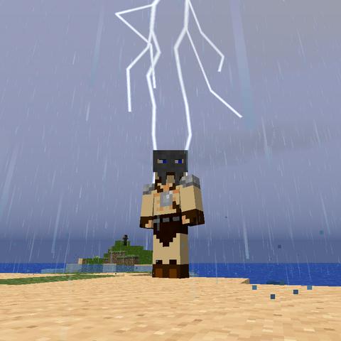 Lightning hitting behind me