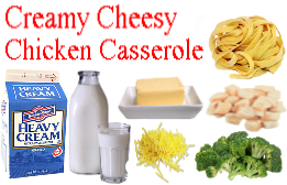 Creamy Cheesy Chicken Casserole