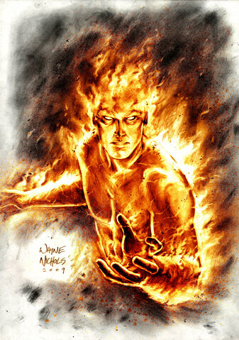 File:Human Torch Commission by FlowComa.jpg
