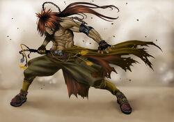 Red Monkey the Swordsman by elaszer1