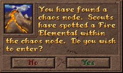 Encounter ChaosNode Dialog