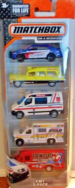 2015 Matchbox EMT 5-PACK