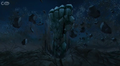 Mortum's hand emerging from the ground