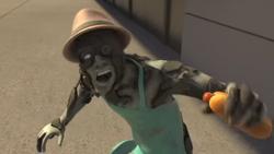 Hot dog vendor zombie