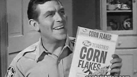 POST TOASTIES 1960s COMMERCIAL ANDY GRIFFITH