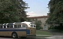 Cesar Romero bus stop at house