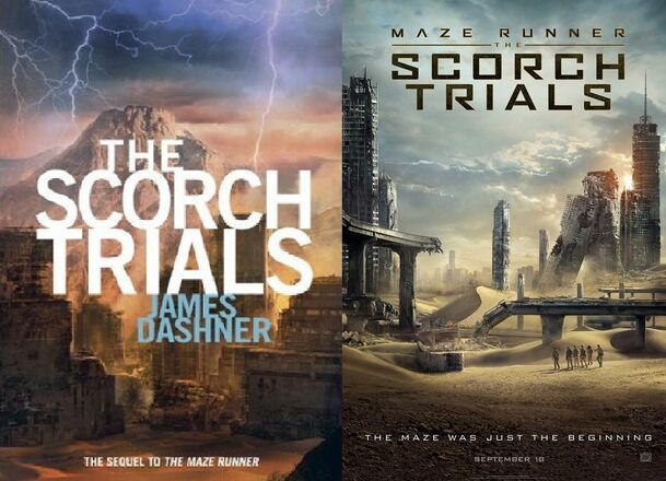 The Scorch Trials Book Cover - Maze Runner The Scorch Trials Movie Poster