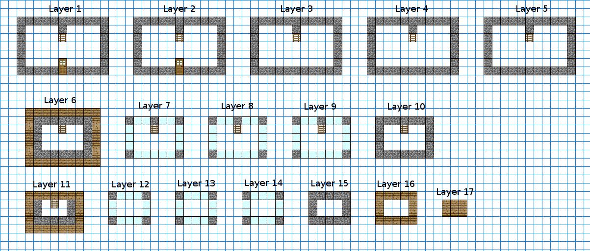 Image ObservatoryKeepBlueprintspng Minecraft Constuctions