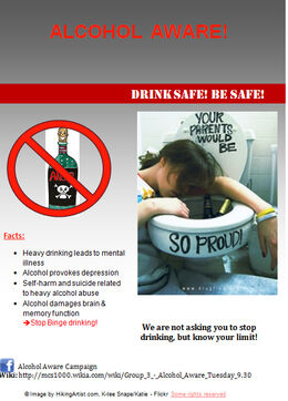 Alcohol aware flyer