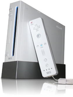 Nintendo Wii con Wii Mote.png