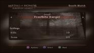 Frostbite Menu Screen