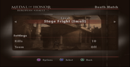 Stage Fright Menu Screen