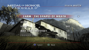 The Grapes of Wrath Menu Screen