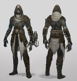 Dark elf assassin by ubermonster-d38q7yi