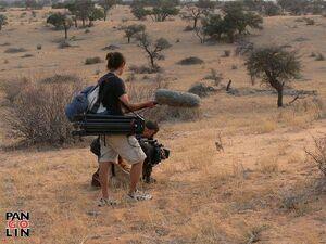 Ralph Helen filming Rocket Dog
