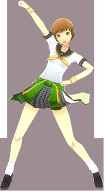 File:P4D Chie Satonaka summer school uniform change.PNG