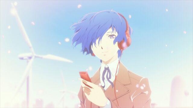 File:Makoto in Persona 3 The Movie meets Walkman promo art.jpg