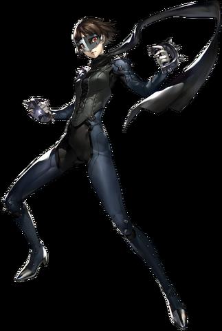 File:P5 Makoto Nijima, Phantom Thief.png