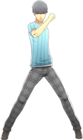 File:P4D Yu Narukami Summer Vacation Clothes (Limited Edition Included - DLC) change.png