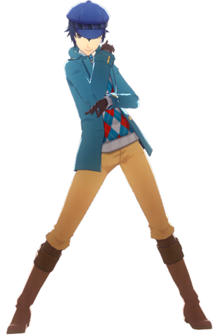File:P4D Naoto Shirogane Midwinter Outfit change free DLC.png