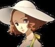 P5 portrait of Haru Okumura's swimsuit