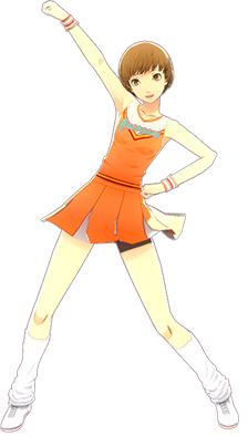 File:P4D Chie Satonaka cheerleader outfit change.PNG