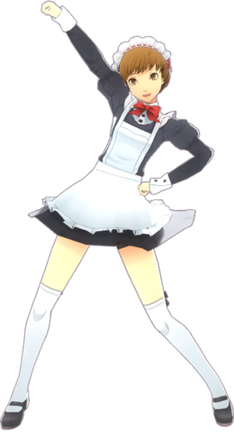 File:P4D Chie Satonaka maid uniform.png